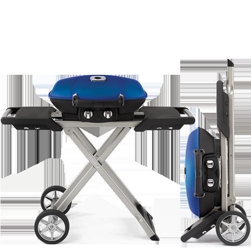 Elegant Portable Gas Grill With Scissor Cart TQ285X BL (blue) TQ285X BK (Black)
