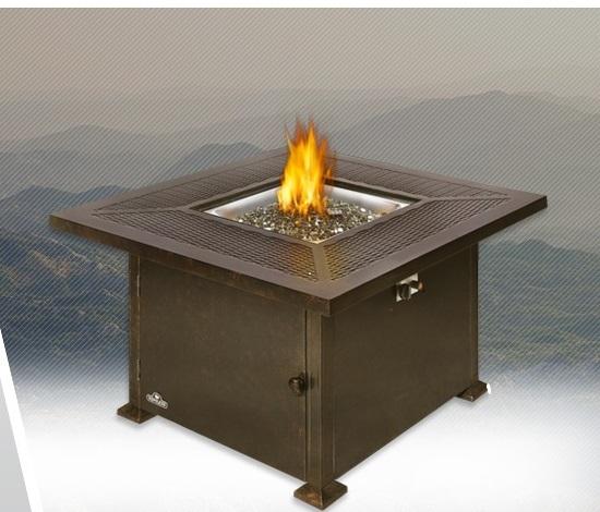 Sunshine GrillsMadrid Patio Flame Square Table   GPFTS42 BZ   Sunshine  Grills